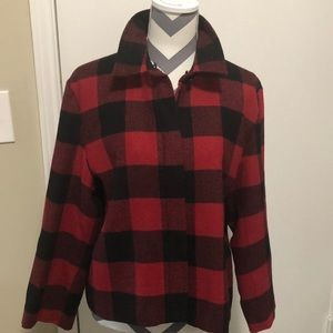 Talbots Wool Buffalo Check short Jacket Coat SZ 16